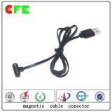 Kundenspezifischer wasserdichter tragbarer magnetischer Pogo Pin-Kabel-Verbinder