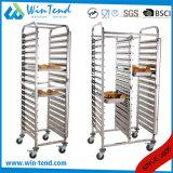 Carrello caldo del pane del forno delle file di vendita 7 con le rotelle