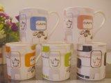 Café de cerámica reactivo de 14 onzas, taza de la leche