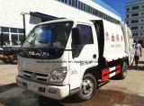 작은 4X2 Forland 트럭 4 톤 쓰레기 압축 분쇄기 쓰레기 트럭 4 M3 폐기물 처리