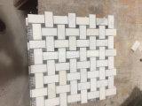 Telha de mármore branca oriental do mosaico