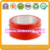 Caixa desobstruída redonda do Tinplate do indicador, caixa do estanho do alimento