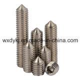中国ASME/ANSI B 18.3からの円錐形ポイント製造者が付いているステンレス鋼304の六角形のソケットの止めねじ
