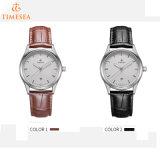 Relógio feito sob encomenda do couro do aço inoxidável do fabricante do relógio de OEM/ODM para Men72599