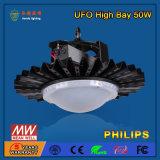 SMD2835 50W 산업 LED 높은 만 전등 설비