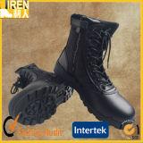 黒い本革の安いQuickwearの警察のユニフォームの靴