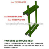 Boundary Wall Security Welded Double 868 Wire Mesh Fence com Direct Factory