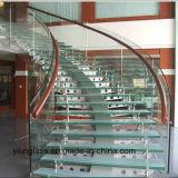 Ausgeglichenes und lamelliertes Treppenhaus-Glas