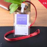Détenteur de carte d'IDENTIFICATION RF avec les détenteurs de carte minces matériels d'ABS de lanière