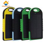 Заряжатель водоустойчивого мобильного телефона 5000mAh/12000mAh крена силы USB солнечный