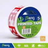 Cinta de empaquetado adhesiva impresa de BOPP para el lacre del rectángulo