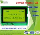 écran LCD graphique de 240X128 MCU, T6963, 20pin pour la position, sonnette, médicale