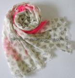 Sciarpa stampata cotone poco costoso del poliestere di modo delle donne (HWBPS099)