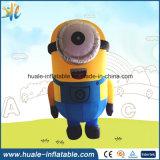 La publicité du dessin animé gonflable, subordonnés jaunes gonflables