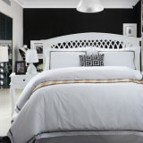 100% de cobertura de hoja de algodón de cama / fundas de almohada