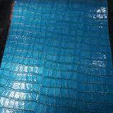 Het glanzende Kunstleder van pvc van de Textuur van de Krokodil voor de Rugzakken van de Portefeuilles van Handtassen