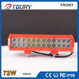 Barra ligera auto de la fila LED del doble de la lámpara del trabajo del CREE 72W
