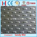 Placa de aço inoxidável da escada AISI 316ti do assoalho com revestimento antiderrapante Chequered Checkered do diamante 2b