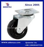 軽量強いゴム製脚輪および黒い車輪