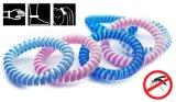 Bracelet normal de produit répulsif de moustique de double couleur d'EVA
