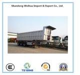 Kipwagen, de Hete Vrachtwagen van de Stortplaats Saling, de Semi Aanhangwagen van de Kipper van Vervaardiging
