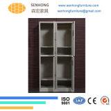 4 أبواب خزانة ثوب معدنة خزانة لأنّ تخزين إستعمال