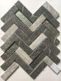 Mattonelle di mosaico di vetro Herringbone di stampa del getto di inchiostro di più nuova tecnologia