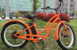 Bicicleta del neumático de la playa de las mujeres eléctrica eléctrica con el motor 8fun
