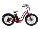 여자 바닷가 8fun 모터에 전기 뚱뚱한 타이어 자전거