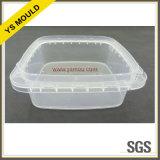 Rectángulo plástico de la conservación de alimentos de 2 cavidades con el molde de la tapa