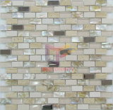 Beige Travertijn Stone Mix Shell, Metal en Crystal Mosaic Tile (CFP070)
