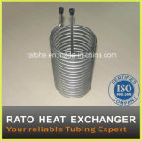 Chaufferette d'eau chaude spiralée de tube