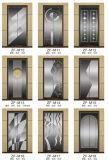 Ascenseur commercial sans engrenages de passager avec le miroir, gravure à l'eau-forte, acier inoxydable de délié