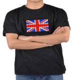 T-shirt de clignotement d'EL de palonnier BRITANNIQUE britannique d'indicateur