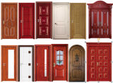 Дверь твердой древесины хорошего качества с стеклом (SC-W061)