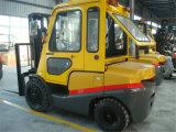 Forklift Diesel do contrapeso do caminhão de Forklift 3ton com táxi