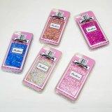Garrafa de perfume Fluxo fluido líquido Glitter Quicksand Transparente TPU Case