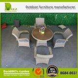 Mobília ao ar livre do pátio do jardim que janta o jogo (tabela e cadeiras)