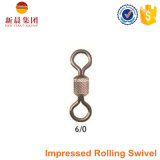 Black Nickle High Strength impressioned Rolling Swivel