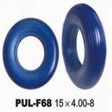 La PU del amarillo de la mayor nivel 15*4.00-8 hizo espuma el neumático del cochecito (RIB15UBC-400-8)