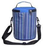 バケツのクーラー袋の縞プリントハンドバッグホイルの食糧袋