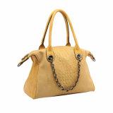 Сумка женщин желтого модного зерна крокодила декоративная цепная (MBNO041040)