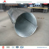Das gerunzelte worden Halbrund flanschte nistbares galvanisiertes Stahlrohr für Bahnabzugskanal nach Spanien