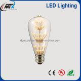 MTX 새로운 LED 전구 Retro E27 3W 별 전구 시리즈 110V/220V