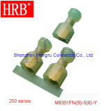Material de nylon Straight Type Isolated Terminal with 24A