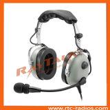Pnr Aviation Headset con GA 2pin Plugs per Pilots Use