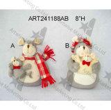 """5 """" Hx7 """" L mit Blumen u. Zopf-Welpe, Dekoration 2asst-Christmas"""