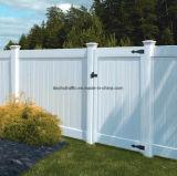 Weißer Polyvinylchlorid-Zaun mit Qualität und Haltbarkeit