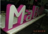Panneau de signe de la publicité extérieure DEL pour le nom de système