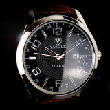 Form-Geschäfts-Uhr-weißer und schwarzer Vorwahlknopf der Luxuxmänner H309 mit Kalender-Bildschirmanzeige